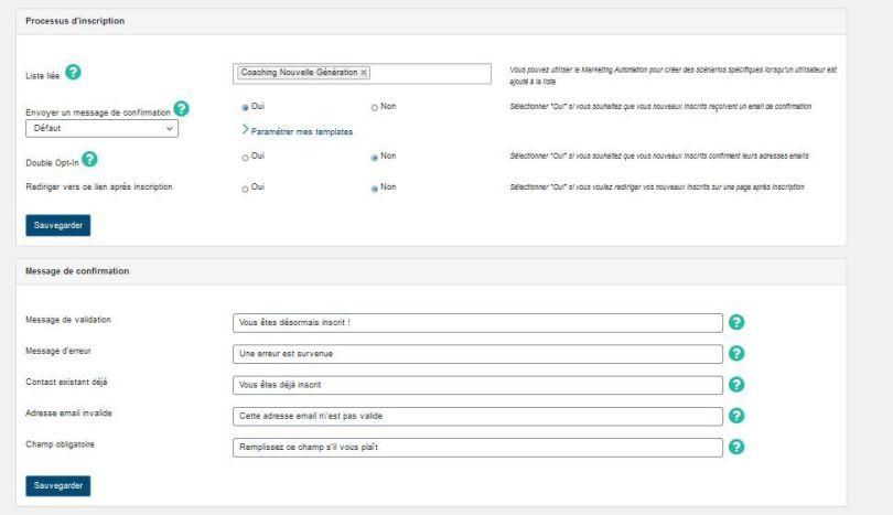 plugin, sendinblue, email, réglages