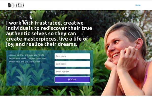 modern website design big image