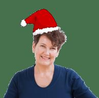 Irene Schaap van Coaching Vitaal met kerstmuts
