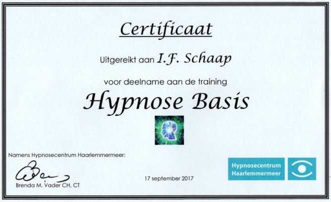 Hypnose Basis Coaching Vitaal