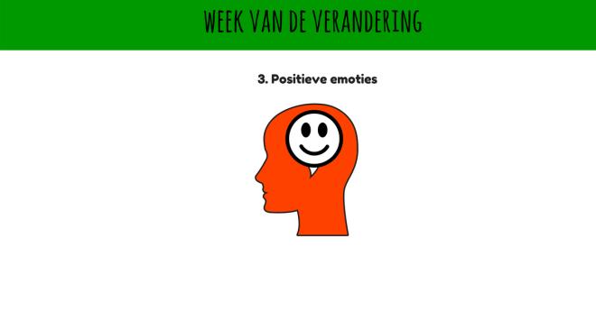 Dag 3 week van de verandering, positieve emoties bij Coaching Vitaal