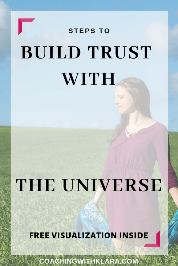 Steps to reconnect to the Universe and your higher self. In this blog post I share with you 6 ways how to build a trust relationship with the Universe or any other higher power you believe in. I included habits you can implement into your daily morning or evening routine to help you to grow spiritually and start leveraging the amazing Law of Attraction on your entrepreneurship journey. Have an open mind and allow yourself to grow.