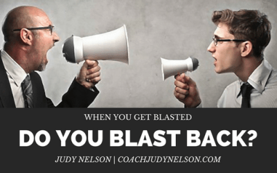 When You Get Blasted, Do You Blast Back?