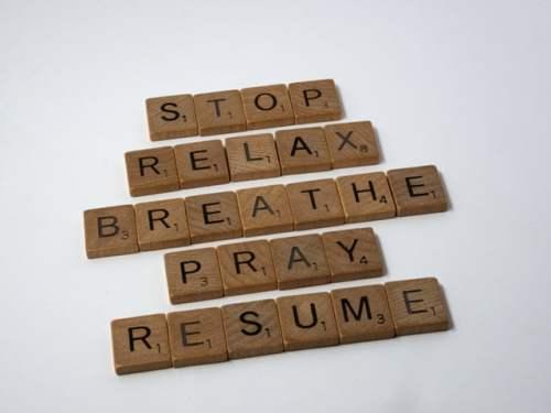 Stop Relax Breathe Pray Resume