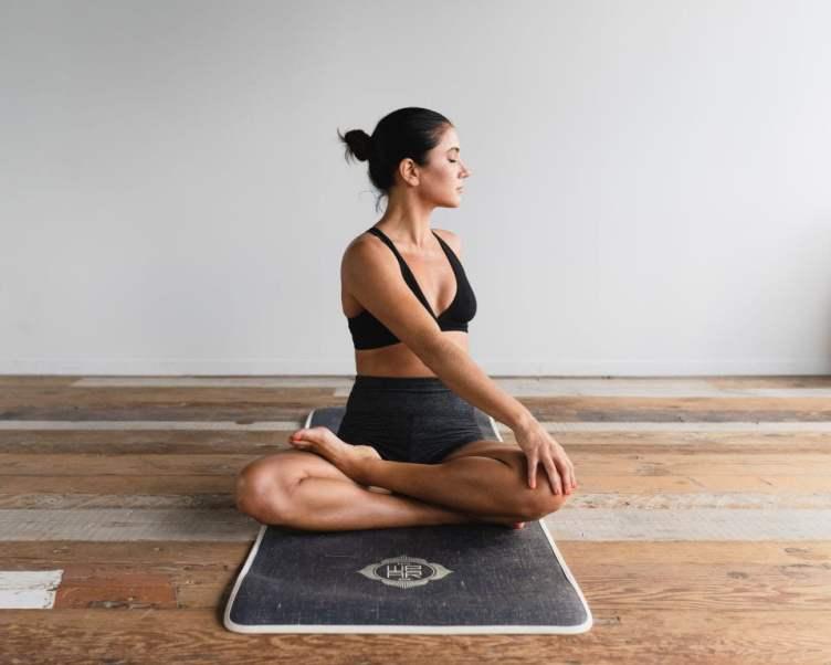 Yogic posture - spinal twist