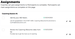 Coaching assignments - Coachmetrix