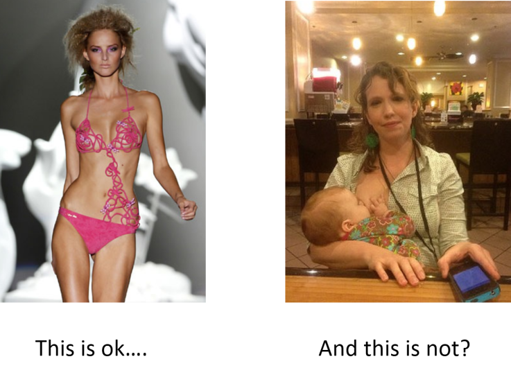 Bikini vs breastfeeding