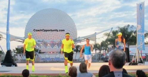 Shaun T workout at Disney World Epcot