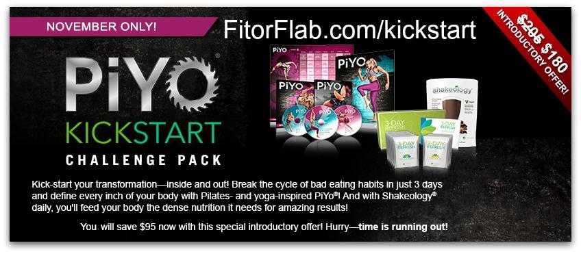 PiYo Kickstart Challenge pack promo
