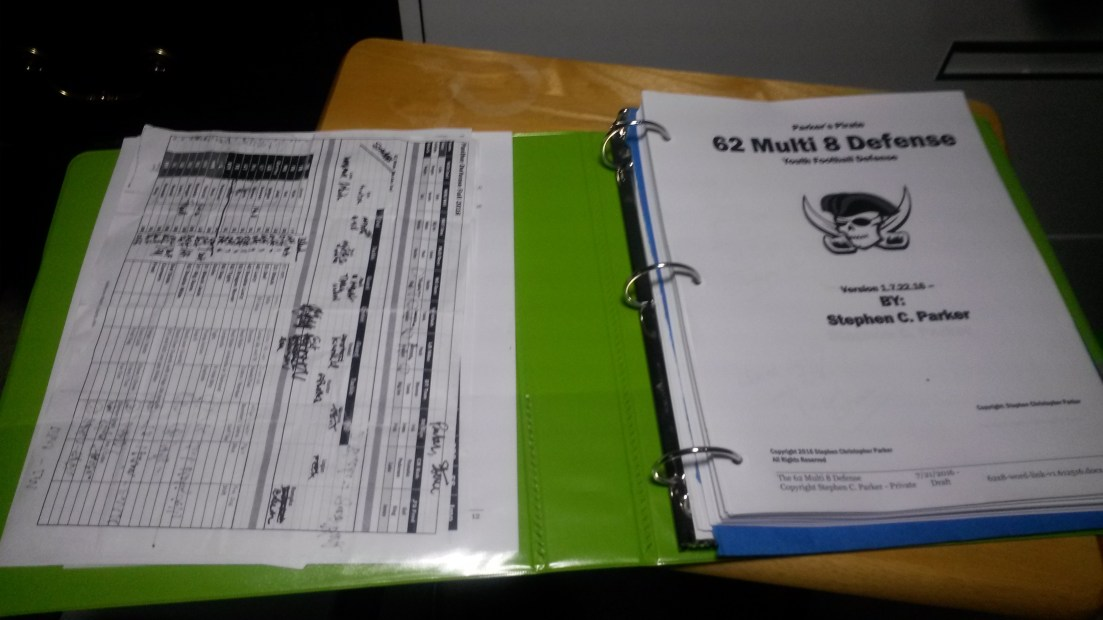 The 62 Multi 8 Youth Football Defense Playbook / eBook