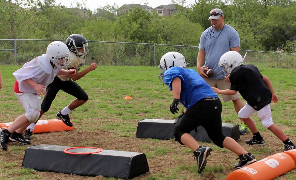 youth football blocking drill Hex Hoochikawdawa