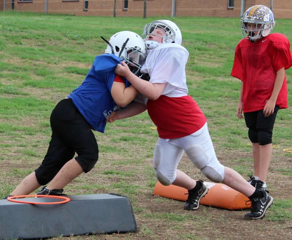 youth football blocking drills