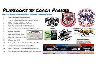 youth football playbooks store