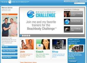 Screenshot Of Beachbody Coach Website (www.BeachbodyCoach.com/marcusochoa)