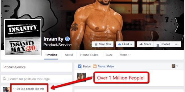 Insanity Facebook Likes