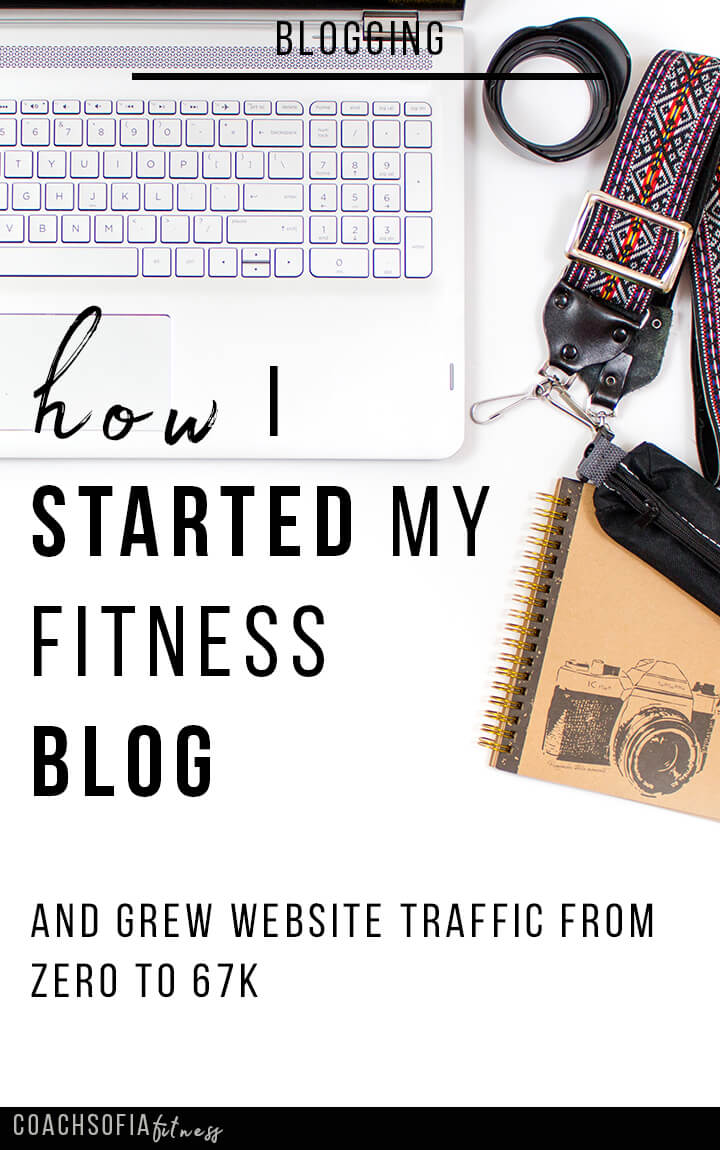 How I started my fitness blog and grew traffic from zero to 67k in less than a year