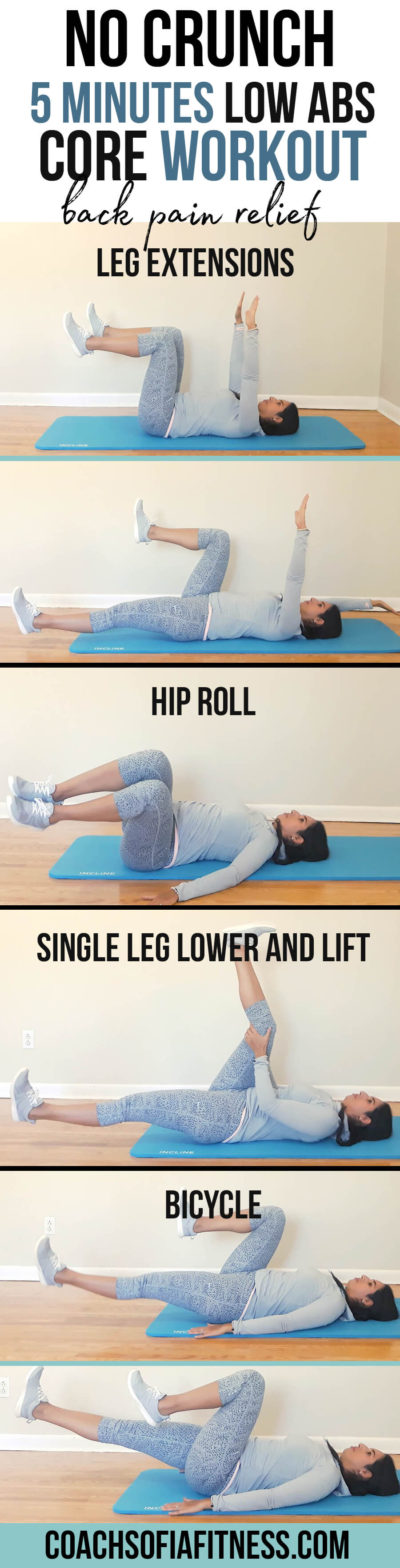 I've been really loving taking a break during the day to do my 5 minute routines, and today I have for you another one to activate and strengthen the lower abdominals and core muscles. Again, this is a no crunch routine.  If you have back pain, piriformis syndrome, pelvic pain and just chronic pain in your hips you HAVE to move your body in a way that helps you increase blood flow and strengthen those muscles to protect your hips and spine. 