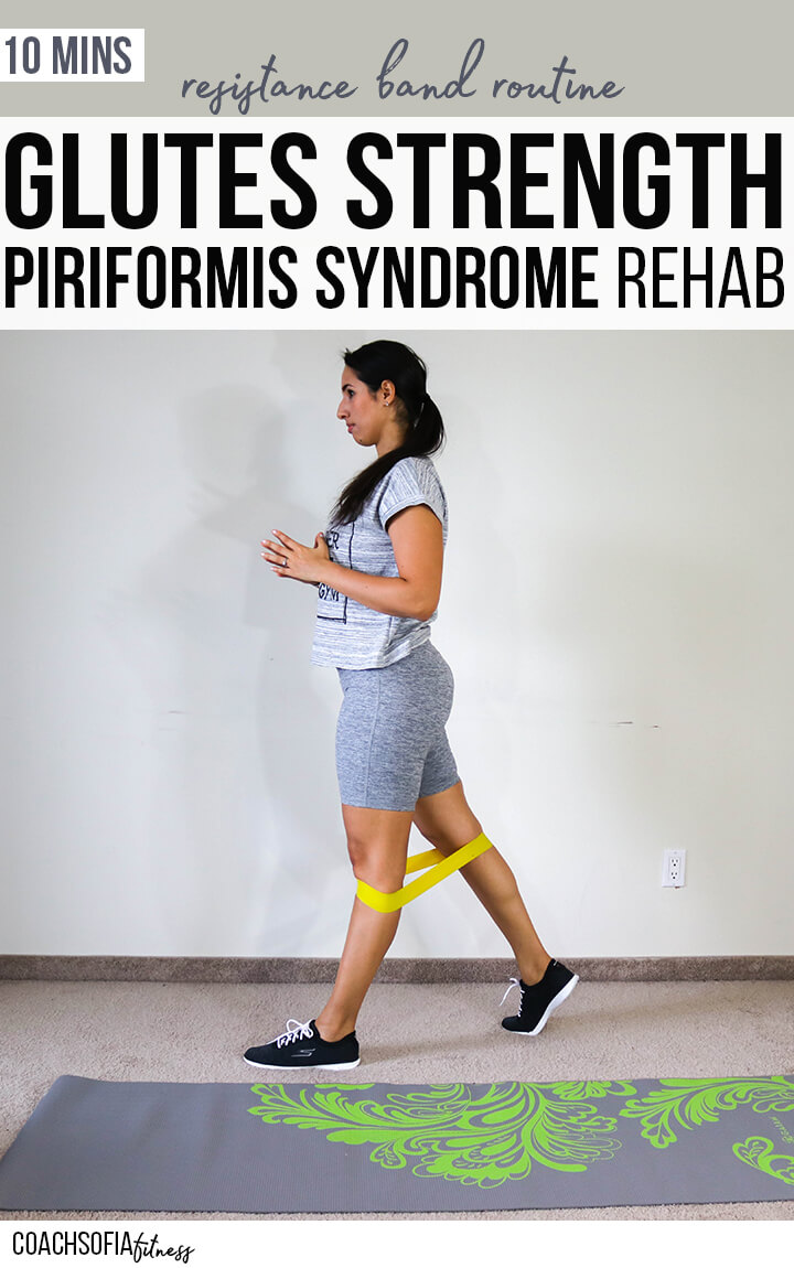 Checkout this glute strengthening hip routine specific for piriformis syndrome rehab. Grab a resistance loop band and join me in this home workout to work on those glutes. We will target the glute medius, glute maximus and piriformis muscle to stabilize your hips, and get relief #piriformissyndrome #lowerbackpain #homeworkout 
