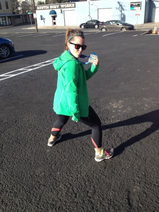 Apparently this is our post-race stance.