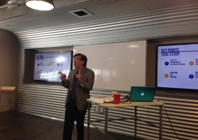 """Rich presenting """"Creating a Culture of Profitability"""" at the Capital Factory in Austin"""