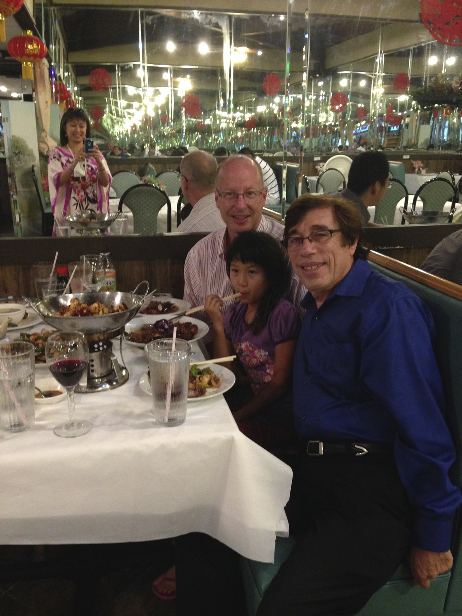 Rich with Judy Huang's family