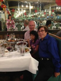Rich with Judy Huang's family over a Chinese meal