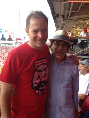 Steven Kapor and I at the ball park in Cincinnati for Funddriver's annual retreat