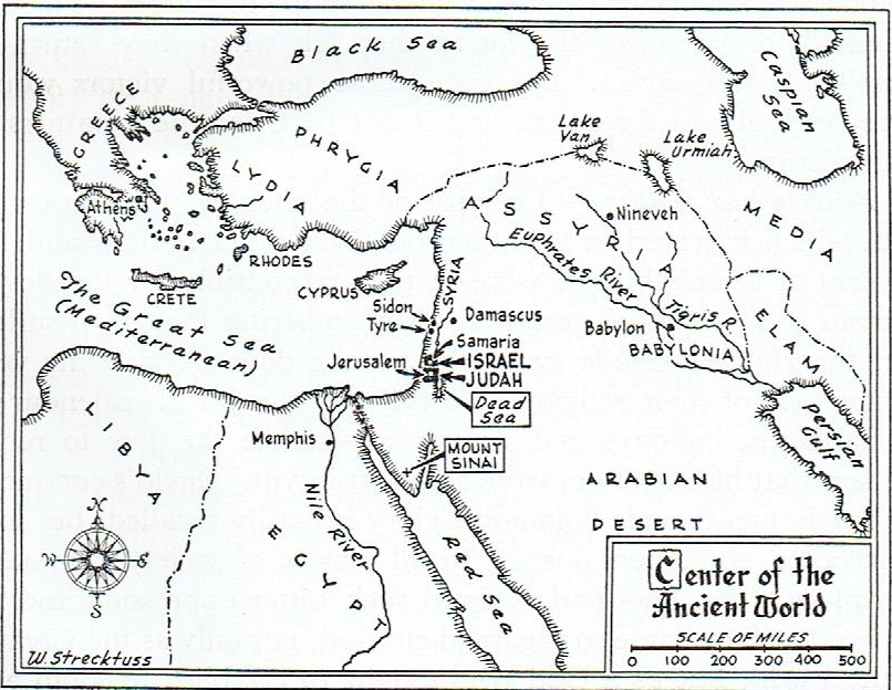 Ancient Israel Map 001