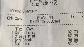 Server at IHOP Labels Couple's Receipt 'BLACK PPL'