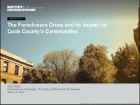 FORECLOSING on COMMUNITY PRESENTATIONS