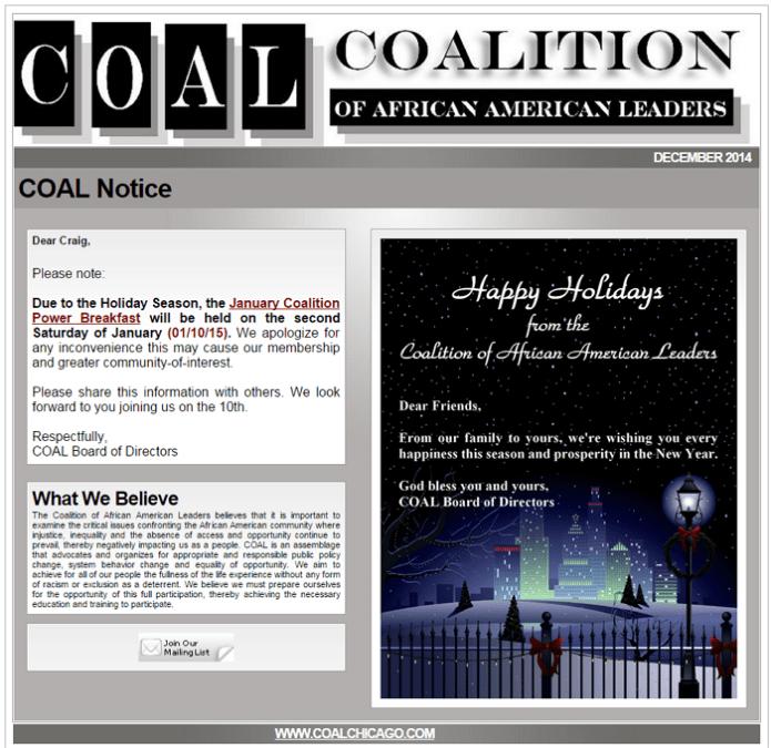 COAL Notice 123014