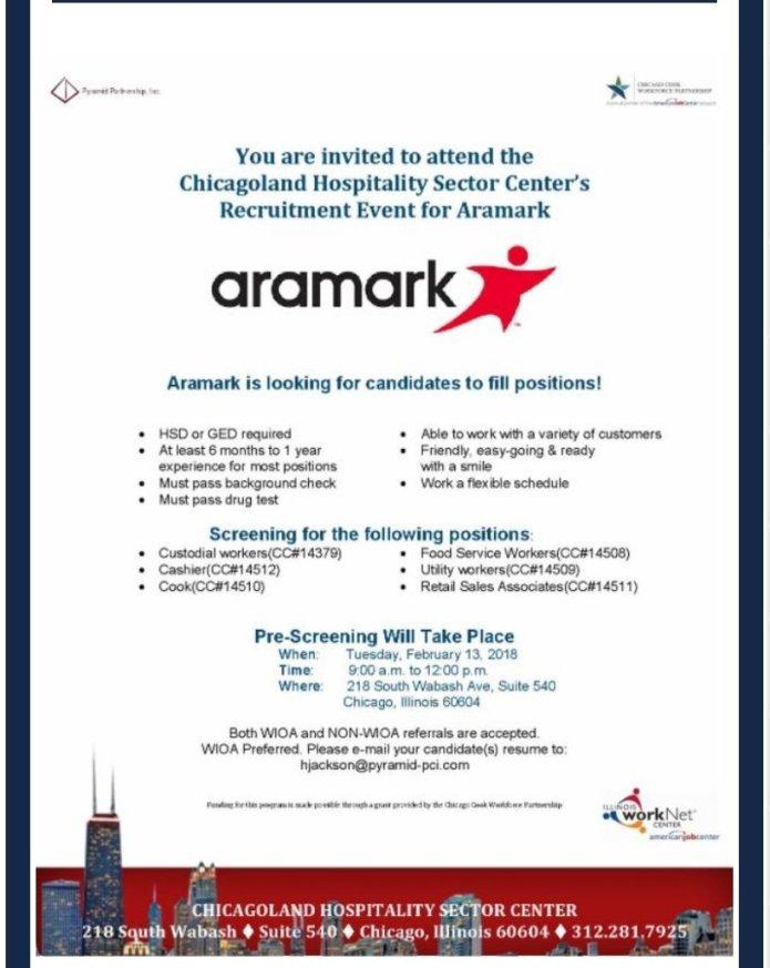 Aramark - Job Openings - Coalition of African American Leaders