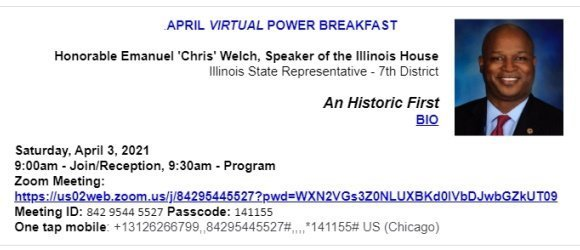 COAL News -  April Power Breakfast / Quick Hits / Info of Interest