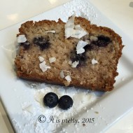 Coconut Blueberry Pound Cake