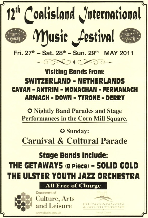 Coalisland International Music Festival flyer (click to enlarge)