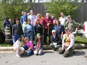 volunteers after a clean up on a national wildlife refuge