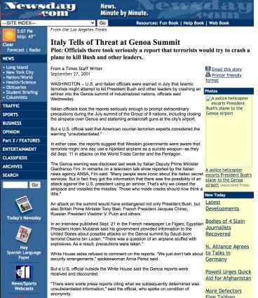 genoa summit 2001