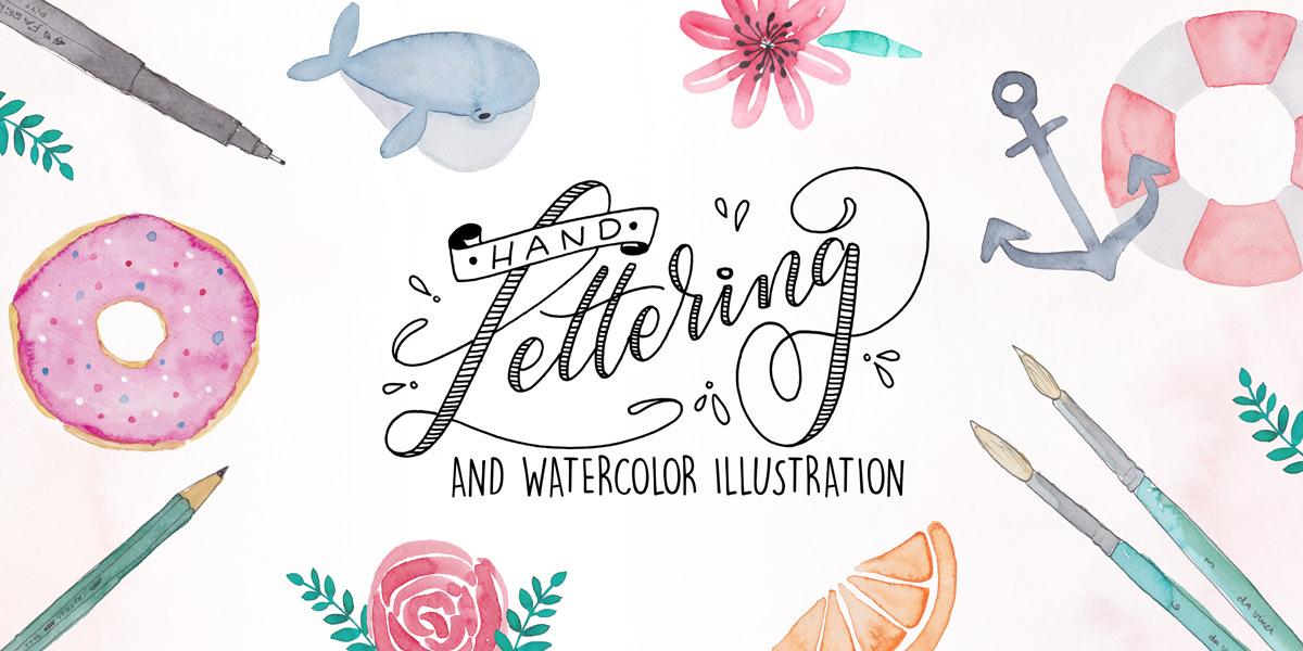 Handlettering and Watercolor Illustration // Workshop mit Martina Johanna Janssen