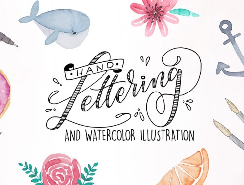 Handlettering and Watercolor Illustration // Workshop mit Martina Johanna Janssen