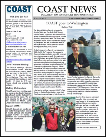 COAST Winter 2105 Newsletter
