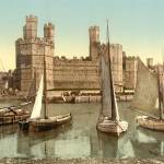 Caernarfon Castle and Boats