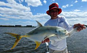 "Benny caught this LW Lagoon ""Jackzilla"" while fishing with Capt. Danny Barrow"