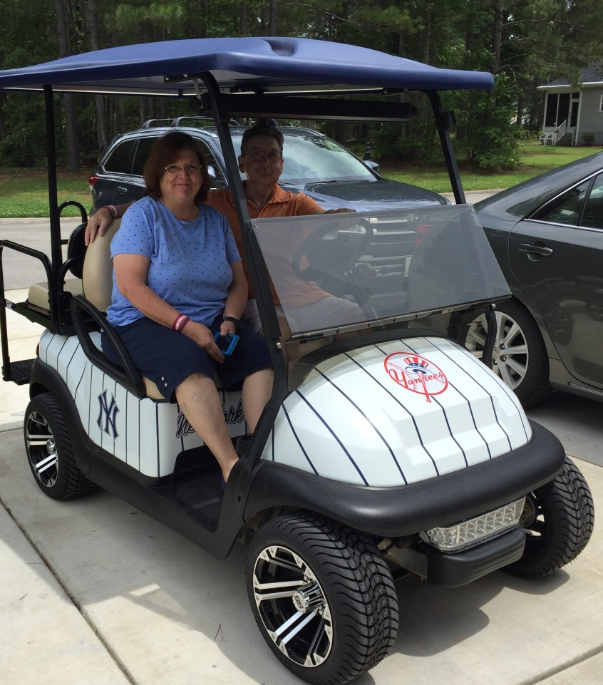 Yankee Themed Golf Cart