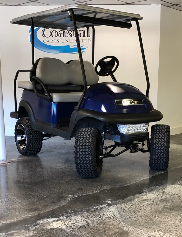 Royal Blue Lifted Golf Cart