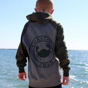 Youth camo Sweatshirt with Green Imprint