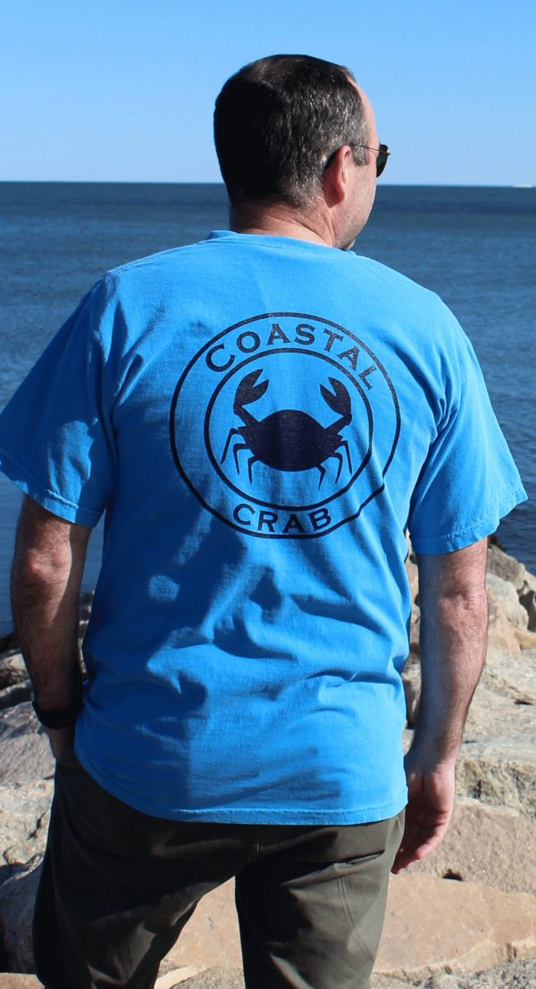 Adult T-Shirt Blue with Navy Imprint