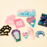 Blanks, resin cabochons and resin decals