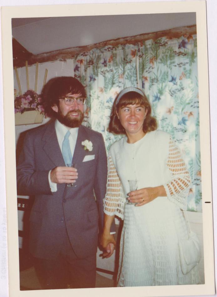 My wonderful parents on their wedding day in 1974!