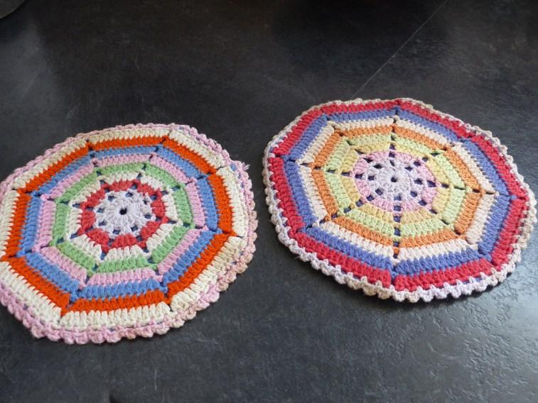 Dutch crocheted pannenlappen...beautiful and practical-a winning combination!