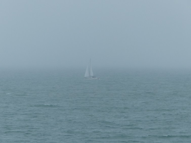 I loved the look of this sailing boat out at sea
